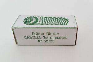 Fräser für Castell Spitzmaschine Nr. 52/25 Originalverpackung NOS Faber Castell