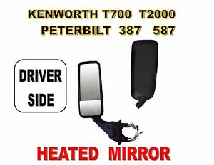 Peterbilt 387, 587 & Kenworth T2000, T700 Black Mirror Assembly L/H