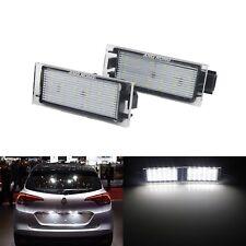 2X Renault License Number Plate LED Light Canbus Laguna Master Megane Trafic MK3