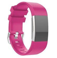 Fitbit Cargo 2 Correa de Silicona banda de una sola correa portadora-rosa caliente-FB0032