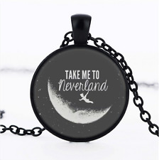 Quote Pendant Connector Bronze Word Pendant Word Charm Peter Pan Quote Neverland