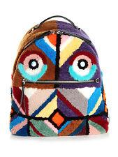 NWT Fendi Zaino (Monster) Shearling and Fur Backpack