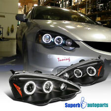 2002-2004 Acura RSX Halo LED Projector Headlights JDM Black SpecD Tuning