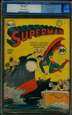 Superman #13 CGC 7.5 DC 1941 Lex Luthor! Jimmy Olsen! JLA! Action! K4 418 1 cm