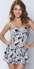 Studio Skirted Swimsuit Palm Print Size Uk 22 rrp £30 LS171 AA 19