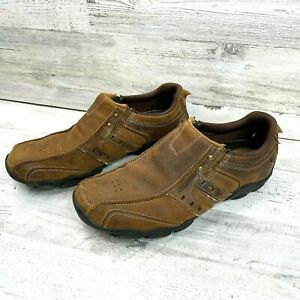 Sketchers Relaxed Step Comfort Mens Loafer Shoes Brown Leather 61779 Size 9.5