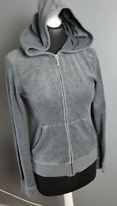 Grey Zipped Hoodie, Size M, Juicy Couture