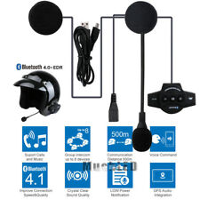 Rechargeable Motorcycle Bluetooth Helmet Intercom FM Radio BT8 Headset 4.0+EDR