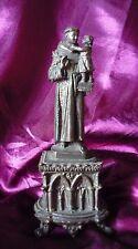 STATUE ST ANTOINE DE PADOUE AUTEL REGULE ST ANTHONY ANTONIO RELIGIEUX RELIQUARY
