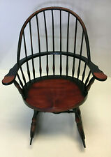 Wood Windsor Antique Looking Doll Rocking Chair By Three Hands Corp
