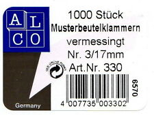 Musterbeutelklammern rundkopf  ALCO 330 Musterbeutelklammern Rundkopf 17 Mm | eBay