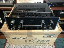 VINTAGE MCINTOSH C28  STEREO PREAMPLIFIER -EXCELLENT COND W/ORIG BOX