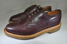 Mark Mcnairy New Amsterdam Burgundy Leather Brogues $490 Crepe-Sole Men 10 M