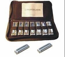 Seydel 1847 9 Harmonica Set w/Case STEEL REEDS! WOOD OR POLY COMB & KEY CHOICES!