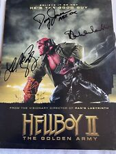 Hellboy Two Movie Press Kit SIGNED by cast - MAKE OFFER