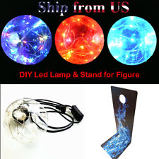 DIY LED Lamp Light Bulbs Stand Display for Anime Action Figures Statues Toys