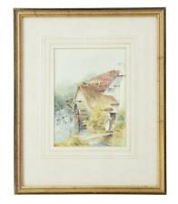 20TH CENTURY WATER COLOUR WATERMILL BY C W MORSLEY