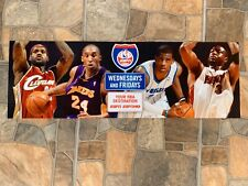 Disney RARE ESPN NBA PLAYERS Advertisement Ad Sign Card Prop Authentic