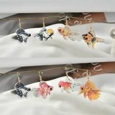 10Pcs Glitter Acrylic Resin Fish Cute Animal Goldfish Shaped DIY Earring Jewelry