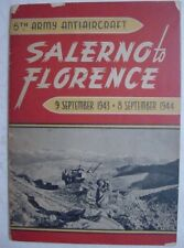 WWII-5th Army Anti-Aircraft History-Salerno + Florence Italy-Original-1943 1944