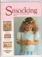 Australian Smocking - Issue No 10 - September 1989 - Extremely Rare