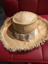 Small Light Natural Panama Hat Vintage Style