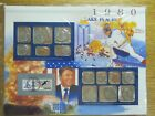 1980 United States Uncirculated Mint Set Panel - Postal Commemorative Society