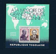 Togo bloc   grands hommes  Paul VI président Kenyatta   de 1980   num: 141   **