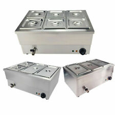 More details for 3/4/6 pots bain marie commercial wet well heat electric food warmer pan catering