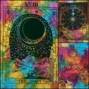 Tarot Card Poster Wall Hanging Tapestry Small Wholesale Price Lot Of 3 Pcs Multi