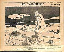 Humour anti-Boche Feldgrauen Vampires Deutsches Heer Dessin Toffoli WWI 1916