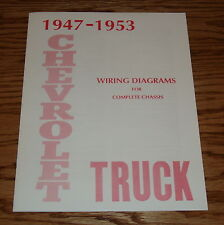 1947-1953 Chevrolet Truck Wiring Diagram Manual for Complete Chassis Chevy