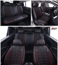 Noir PU Cuir & Tissu Set Complet Housses de Siège Rembourré pour Kia de Hyundai