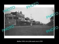 OLD POSTCARD SIZE PHOTO OF BALLINA NSW VIEW OF THE MAIN STREET c1920
