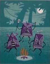 """SHAG Josh Agle """"O is for Oku Ohana Oonu"""" Serigraph Art Print Mint Tiki P.P. 4/5"""