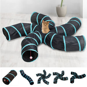 5 Holes Pet Tunnel Toy Puppy Dog Training Game Channel Rolling Ground Foldable