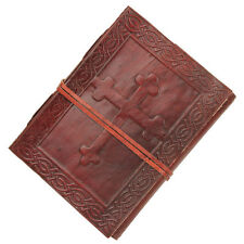 Celtic Cross Handmade Leather Writing Book Journal Diary