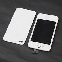 DISPLAY RETINA+VETRO TOUCH SCREEN+COVER PER APPLE IPHONE 4 POSTERIORE LCD BIANCO