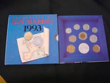 SAN MARINO DIVISIONALE 1993 10 VALORI 1000 LIRE ARGENTO