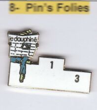 Pinsfolies  Pin's Badge Sports Media pin'up femme Albertville Olympic 92