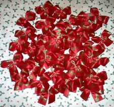 Dog Grooming Bows 40 Santa Paws Christmas Dog Bows Yorkie Poodle Shih tzu NEW