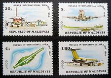 MALDIVE ISLANDS 1980 Unissued Airport Designs (4) U/M NEW SALE PRICE BN 291