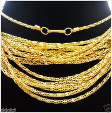 "Chain Necklace With Clasp finding,16.5""G New 10Pcs Gold Plated Hollow Snake"