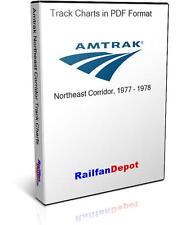 Amtrak Northeast Corridor Track Chart 1977 - PDF on CD - RailfanDepot