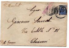 """NAVIGAZIONE , 1911 , annullo P.POSTALE IT. """" PRINCIPE UMBERTO """" per ITALIA ."""