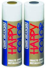 Saratoga happy color smalto spray metallizzato argento 400ml