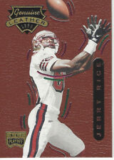 JERRY RICE 1996 PLAYOFF CONTENDERS LEATHER FOOTBALL #57 NRMT