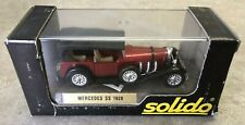 SOLIDO AGE d'Or 1/43 SCALE DIECAST VEHICLE - 1928 MERCEDES SS RED & BLACK