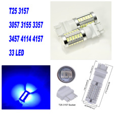 Blue Front Turn Signal Light T25 3057 3157 4157 33 LED Bulb A1 For AW Ford AX
