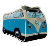 VW T1 Bulli Premium Kulturbeutel Waschbeutel Toilettentasche, Retro Design, blau